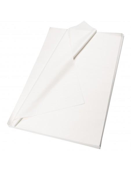 Hojas de papel de seda blanco