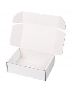 Caja cartón kraft blanca para envios postales