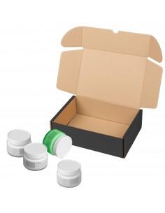 Cajas de cartón negras automontables para cosméticos