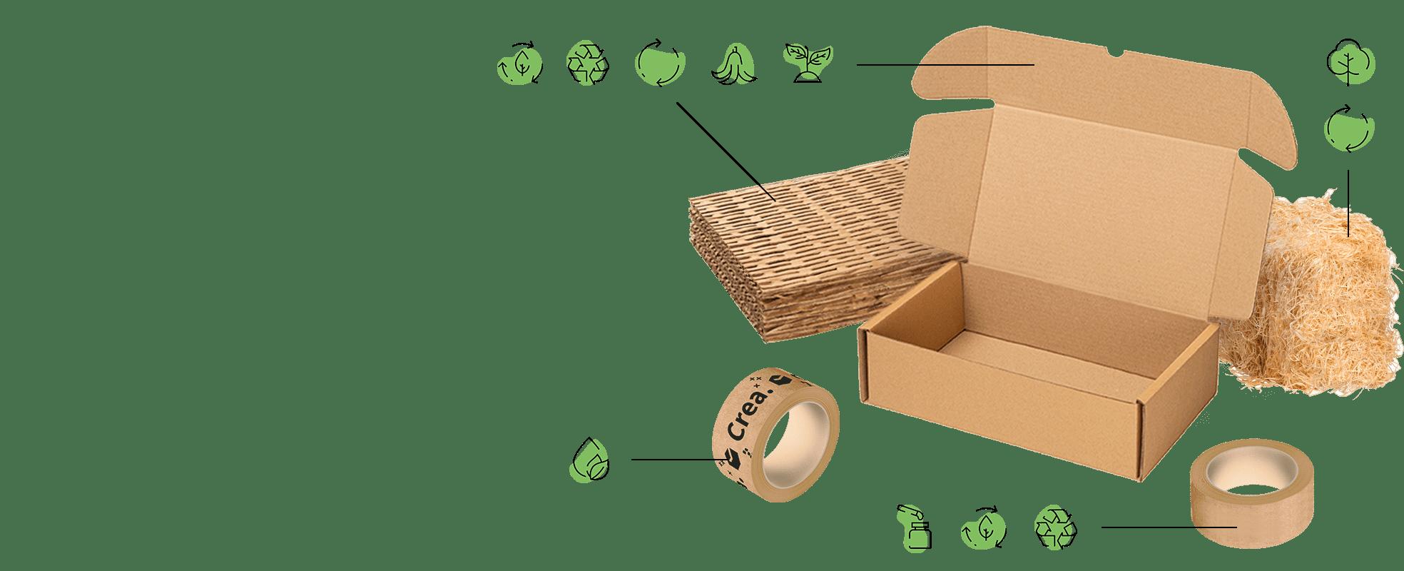 Embalajes y cajas ecológicas