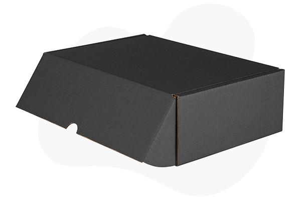 Caja cartón negra