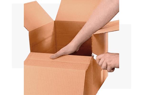 Cajas de cartón con altura variable